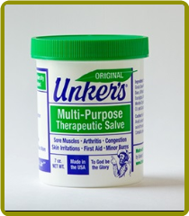 Unker's ORIGINAL Medicated Salve - 7 oz (Case of 12)