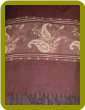 Cashmere/Silk Blend Pashmina - Dark Brown background with Tan detail