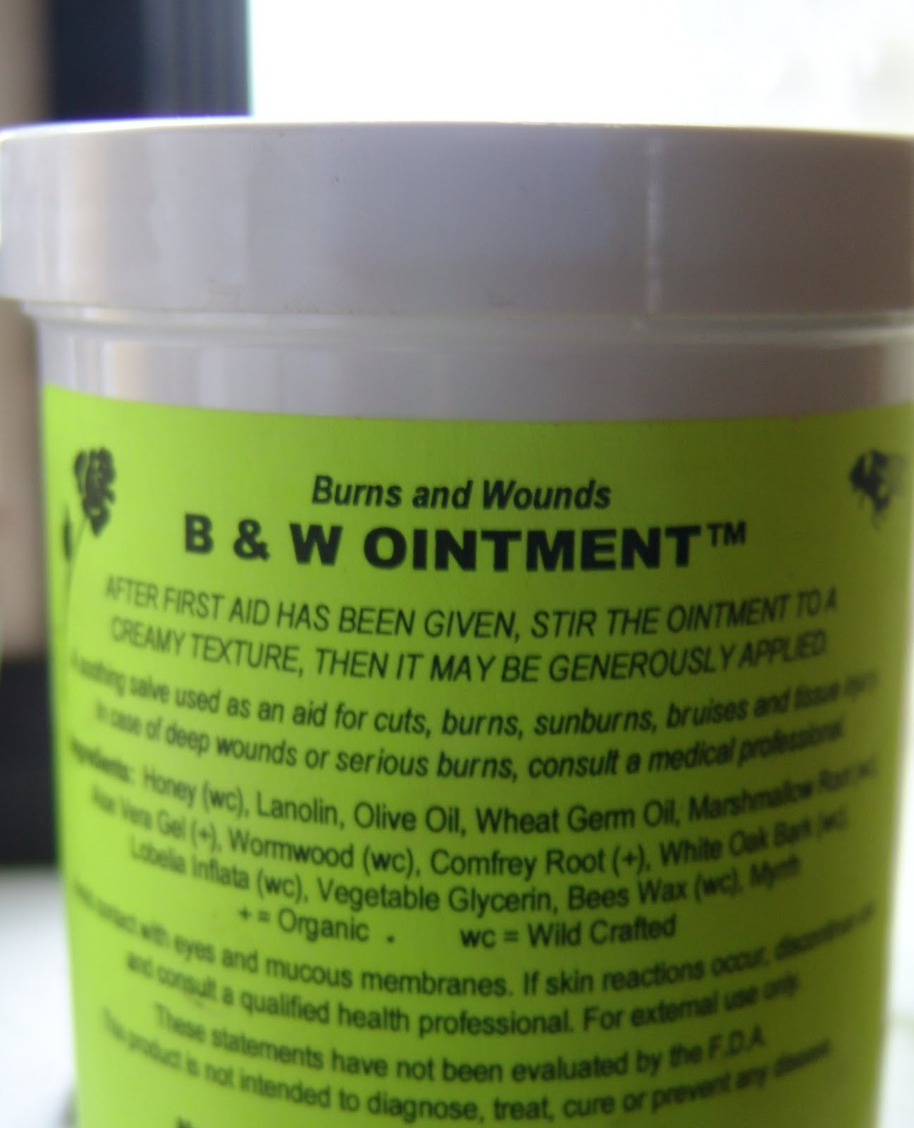 B&W - Burn and Wound Salve